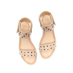 LEATHER SANDAL WITH STUD DETAILING - Shoes - Girl - Kids | ZARA United States