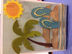 Fun in the sun card... Cricut life is a beach cartridge