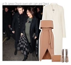"""at St James Church event with Liam and Cheryl"" by liamismybabe ❤ liked on Polyvore featuring Rick Owens, MaxMara, OneDirection, LiamPayne and cherylcole"