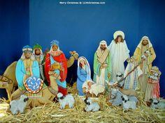 Christmas Nativity Scene HD Wallpaper