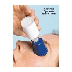 The Autodrop eye drop guide clips onto most eye drop bottles to assist with accurate eye drop installation. The eye drop guide positions the bottle at the optimal angel over the eye and directs the drops.  A special cup prevents blinking by keeping the lower eyelid open.  In addition, a pinhole directs the eye upward and away from the descending drops.