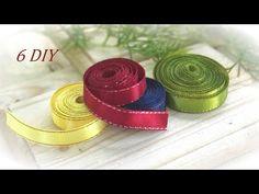 6 DIY Beautiful Crafts from Narrow Satin Ribbons 🌼 6 Красивых Идей канзаши из узких лент - YouTube Ribbon Art, Ribbon Crafts, Ribbon Flower Tutorial, Quilling Jewelry, Satin Flowers, Ribbon Embroidery, Crafty, Diy, Fun Stuff