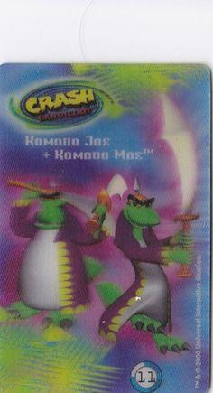 CARD CARTA 3D  CRASH BANDICOOT MR. DAY PARMALAT 2000 CARTA N.  11  OTTIMA