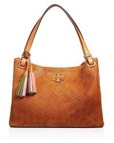 Tory Burch Thea Woven Shoulder Bag | Bloomingdale's