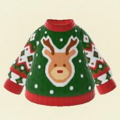 Christmas jumper Green Sweater Pro Design Code - Animal Crossing New Horizon
