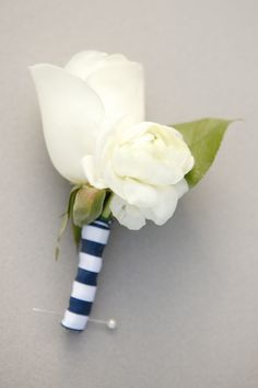 Nautical rose boutonniere
