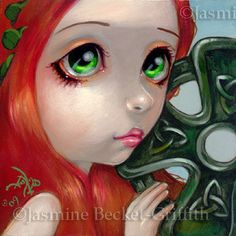 Faces of Faery #42 Irish Celtic Cross by Jasmine Becket-Griffith