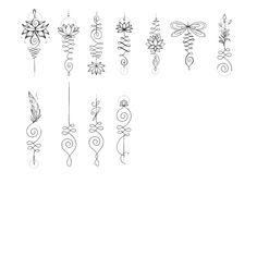 tattoos for women small Unalome Tattoo, Sternum Tattoo, Diy Tattoo, Mandala Thigh Tattoo, Unalome Symbol, Tattoos Musik, Paar Tattoos, Bild Tattoos, Spine Tattoos