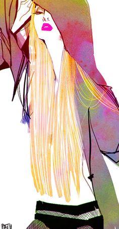 Ieatcoffee: Pin Up and Cartoon Girls Beauty Illustration, Fashion Illustration Sketches, Fashion Sketches, Graphic Illustration, Art Graphique, Fashion Art, Woman Fashion, Fashion Prints, Fashion Models
