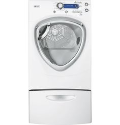 PFDS450ELWW | GE Profile™ Series 7.5 cu. ft. stainless steel capacity frontload dryer with Steam | GE Appliances
