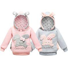Girls Sweatshirt Hoodies Cartoon Sweat Rabbit Spring Hooded Coats For Girls Full Sleeve Kids Clothes Toddler Girls Sweatshirt Kids Pajamas, Pajamas Women, Cute Baby Boy Outfits, Kids Outfits, Cartoon Outfits, Girl Sleeves, Baby Suit, Boys Wear, Baby Sweaters