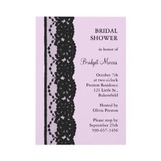 lilac and lace bridal shower invite