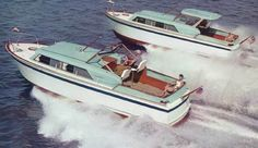Chris Craft 32' Roamer Hardtop and Open top. Not sure of the year. The Roamer was Chris Craft's steel hulled line.