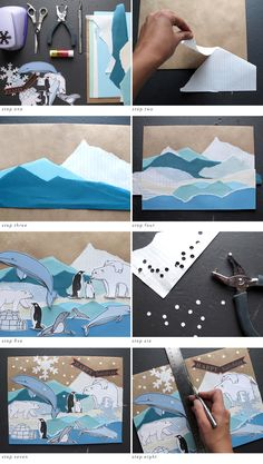 A lovely colorful winter art project for kids with a unique painting method. Winter Art Projects, Winter Crafts For Kids, Art For Kids, Primary School Art, Elementary Art, Book Libros, 3rd Grade Art, Theme Noel, Art Classroom