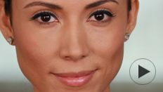 This tutorial will show you how to use a bold color to play up your dark brown eyes.