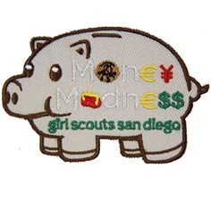 GSSD MONEY MADNESS PATCH FOR BROWNIES-Orders include badge requirements. Fun financial literacy program.