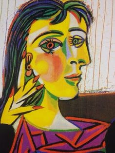 Pablo Picasso Spanish Portrait of Dora Maar Picasso ranks among the top painters of all-time. He was one of the founders of cubism -- a stlye that captures an object from different angles all at once. This painting is actually of Picasso's lover. Pablo Picasso, Kunst Picasso, Picasso Paintings, Picasso Art, Picasso Self Portrait, Portraits Cubistes, Cubist Portraits, Famous Portraits, Abstract Portrait