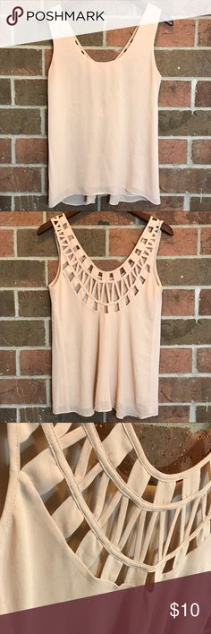 """Lost April by naked zebra Length 17"""" Chest 16"""" light weight in perfect condition you can dress it up or down . Curved back design                                                                  ✅ no trades * No modeling  * Accepting best offer * Keep in mind if you bundle you save more 💕 lost april Tops Tank Tops"""