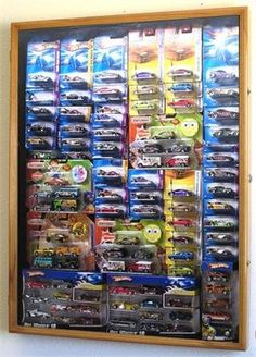 Hot Wheels / Matchbox for cars in retail boxes Display Case Cabinet w/ UV Door, Walnut Review