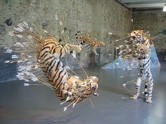Cai Guo-Quiang tigers