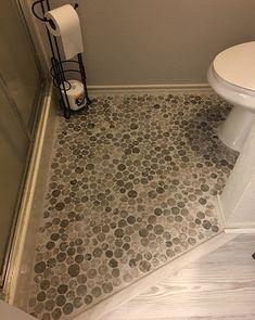 Bathrooms & Showers - Pebble Tile Shop Master Bathroom Shower, Modern Bathroom, Bathroom Flooring, Tile Flooring, Basement Bathroom, Pebble Tile Shower, Small Showers, Old Kitchen, Shower Floor