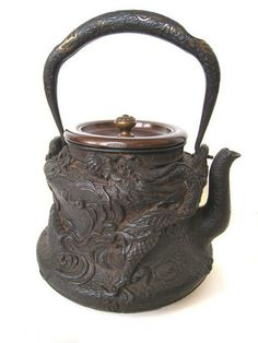 Cast iron teapot made between 1868 and 1912.