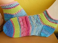Knit Shoes, Sock Shoes, Yarn Projects, Knitting Projects, Knitting Patterns, Crochet Patterns, Cool Socks, Awesome Socks, Knit Picks