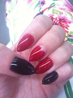 New nails :) #nails #stiletto #loves