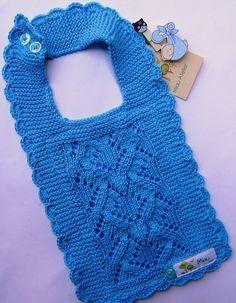 Babador em tricô: http://miauartes.blogspot.com.br/ #artesanato