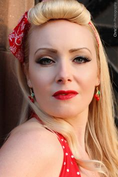 October Divine by October Divine, via Psychobilly, Red Lips, Pin Up, October, Profile, Style, Fashion, User Profile, Swag