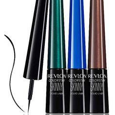 New Ideas for makeup tutorial eyeliner liquid liner shops Revlon, Best Eyeliner, Eyeliner Brush, Eyeliner Liquid, Eyeshadow Brushes, Pencil Eyeliner, All Things Beauty, Beauty Make Up, Hair Beauty
