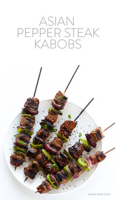 Asian Pepper Steak Kabobs