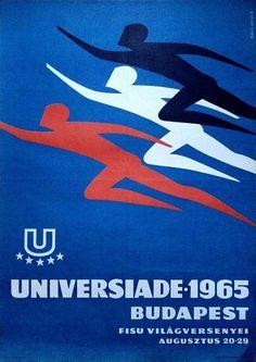Universiade (Gáll Gyula, 1965. - 70 x 50 cm) - $120 at Budapest Poster Gallery's Shop