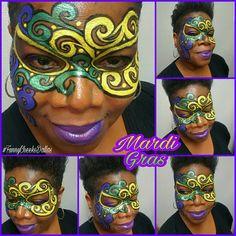 #MardiGras season is here!  I LOVE face painting Mardi Gras masks! Funny Cheeks Dallas Face Painter #FunnyCheeksDallas #DallasFacePainter #dfwfacepainter #FunnyCheeksTJ #facepainting #facepaintinglife #ilovefacepainting #faceandbodyart #faceandbodypainting #instadallas #instadfw #professionalfacepainter #masquerademask #handpainted #handpaintedmask #forallages #kidsparties #kidsentertainment  #mymakeup #todayspractice #dallasfun #DallasTx #AddisonTx #CarrolltonTx #FarmersBranchTx
