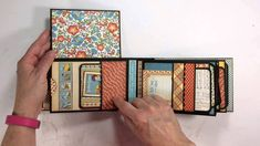 Here's a fun mini album created with Graphic 45's Mother Goose 8x8 paper pad.