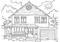 63 best House Coloring Pages images on Pinterest | House colouring ...