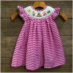 Birthday Pink Chevron Dress $34.99, FREE Shipping