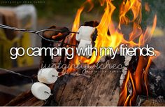 go camping with my friends #bucketlist