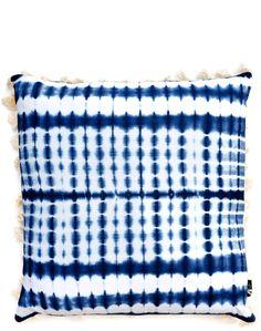 Shibori Tassel Trim Pillow