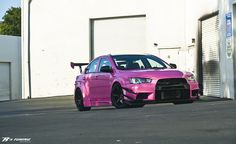 If our Evo X had been pink like this one, I might have driven it more! LOL.