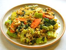 Quinoa vegetable stir fry