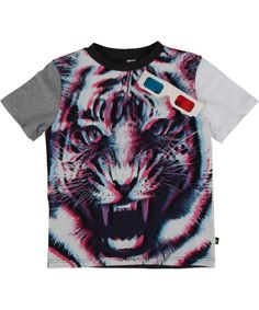Molo Super Cool Summer T-shirt with 3D Tiger and Glasses #emilea