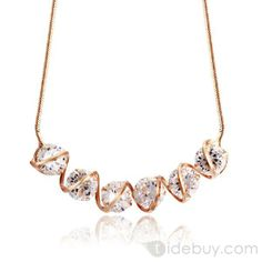 Perfect Six Zircon Alloy Chain Necklace : Tidebuy.com