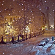 looks like Prague, love the snow <3