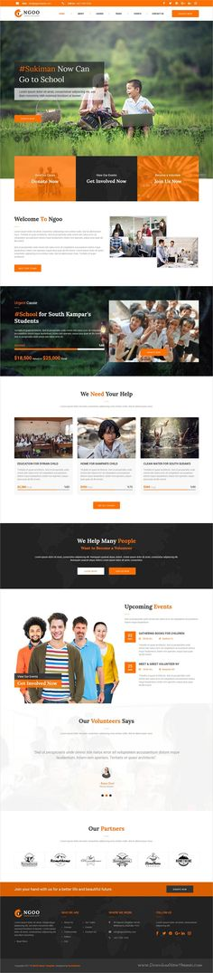 NGOO is a clean, modern, and fully 3in1 responsive #Muse Template for #charity, non-profit, #fundraising, donation, volunteer service websites download now➩ https://themeforest.net/item/ngoo-charity-nonprofit-and-fundraising-muse-template/19381116?ref=Datasata