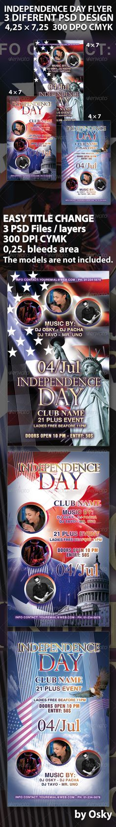 Independence Day  July  Vol  Flyer Template  Flyer Template