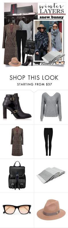 """""""Film Festival: Sundance Style"""" by sweetsely ❤ liked on Polyvore featuring Tommy Hilfiger, Michael Kors, Aspinal of London, Elizabeth and James, Roberto Cavalli, sundance, polyvoreeditorial, felthats and checkeredcoats"""