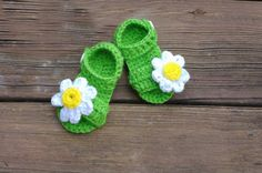 starting at just $12! handmade crochet booties  for babies from newborn to 12 months at gugagii.etsy. com.  #babyshoes