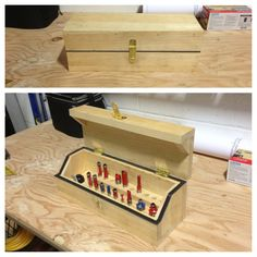 Storage box for rooter bits & A storage box. For a belt sander. | Things Iu0027ve Made | Pinterest