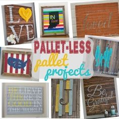 DIY Wall Decor | I LOVE pallet art and have made my fair share of it! Here are some ideas for creating your own pallet-style art - without even having to use a pallet! | #Ad